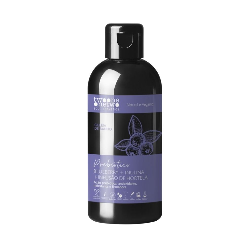 Twoone Onetwo Geleia de Banho Natural de Blueberry Inulina Hortelã 250ml