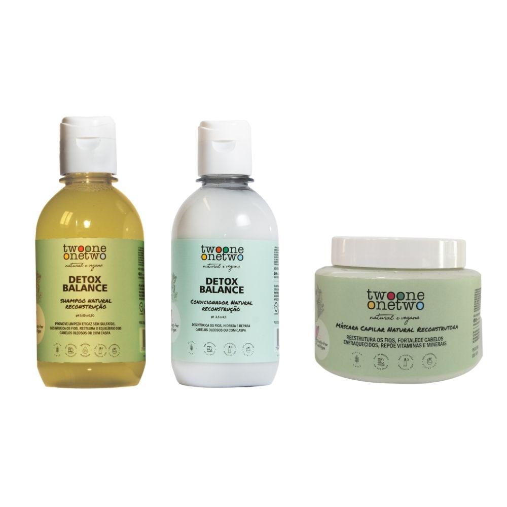 Twoone Onetwo Kit Detox Natural Shampoo + Condicionador + Máscara 3un