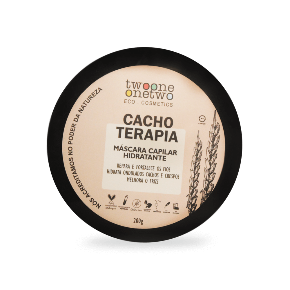 Twoone Onetwo Máscara Capilar Hidratante Cachos Terapia 200g