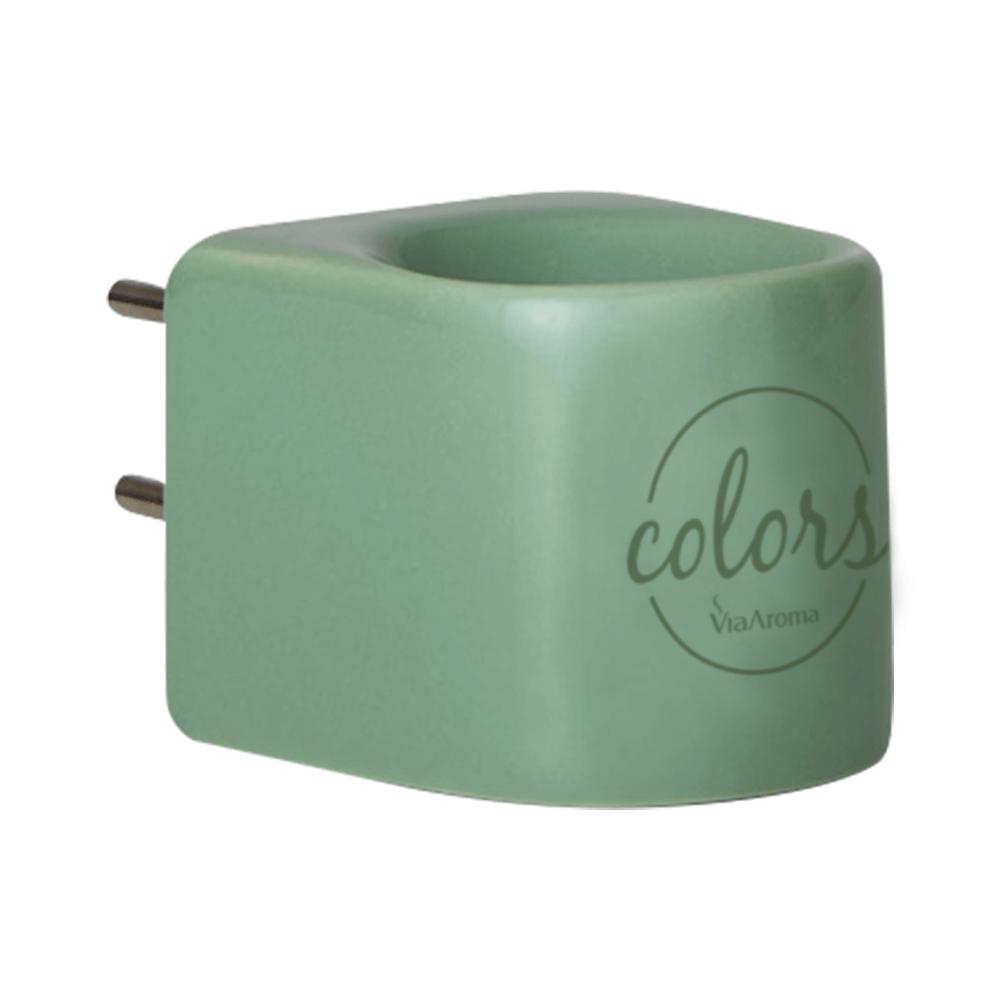Via Aroma Aromatizador Elétrico Verde Colors de Porcelana Bivolt 1un