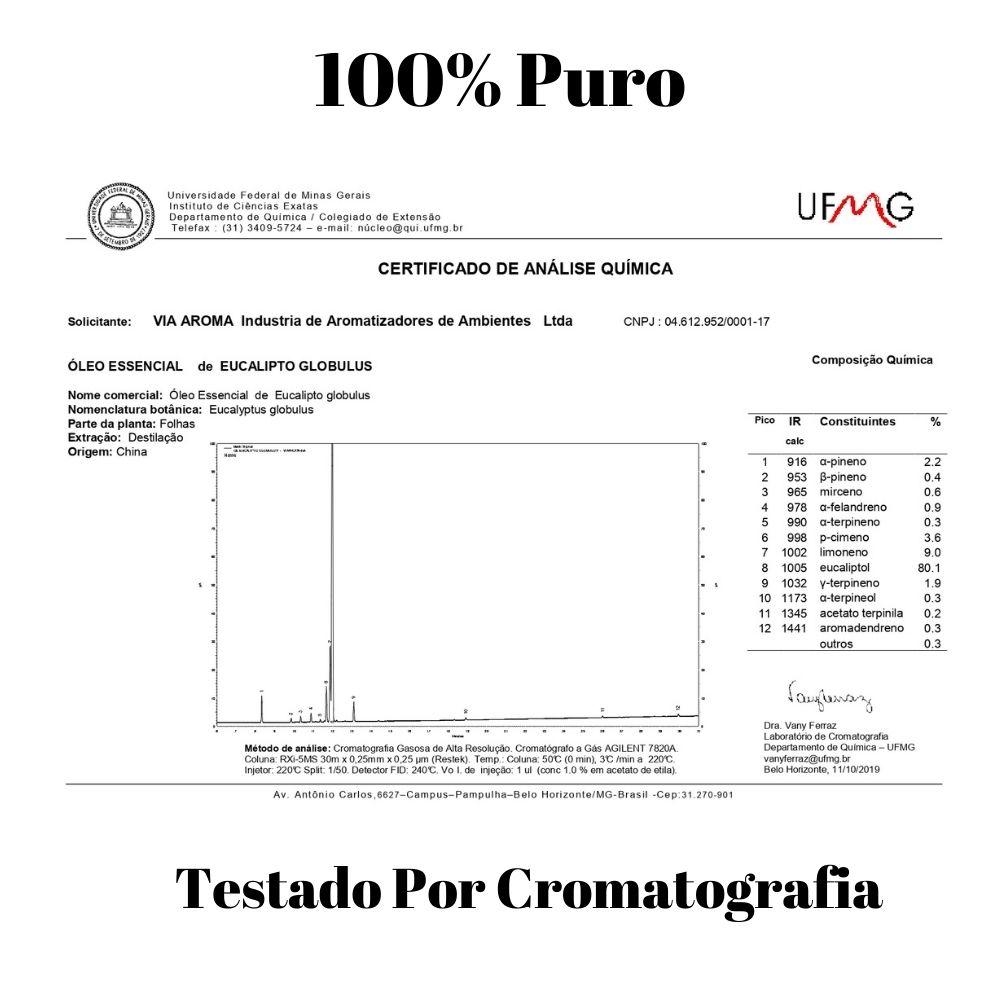 Via Aroma Óleo Essencial de Eucalipto Globulus 10ml