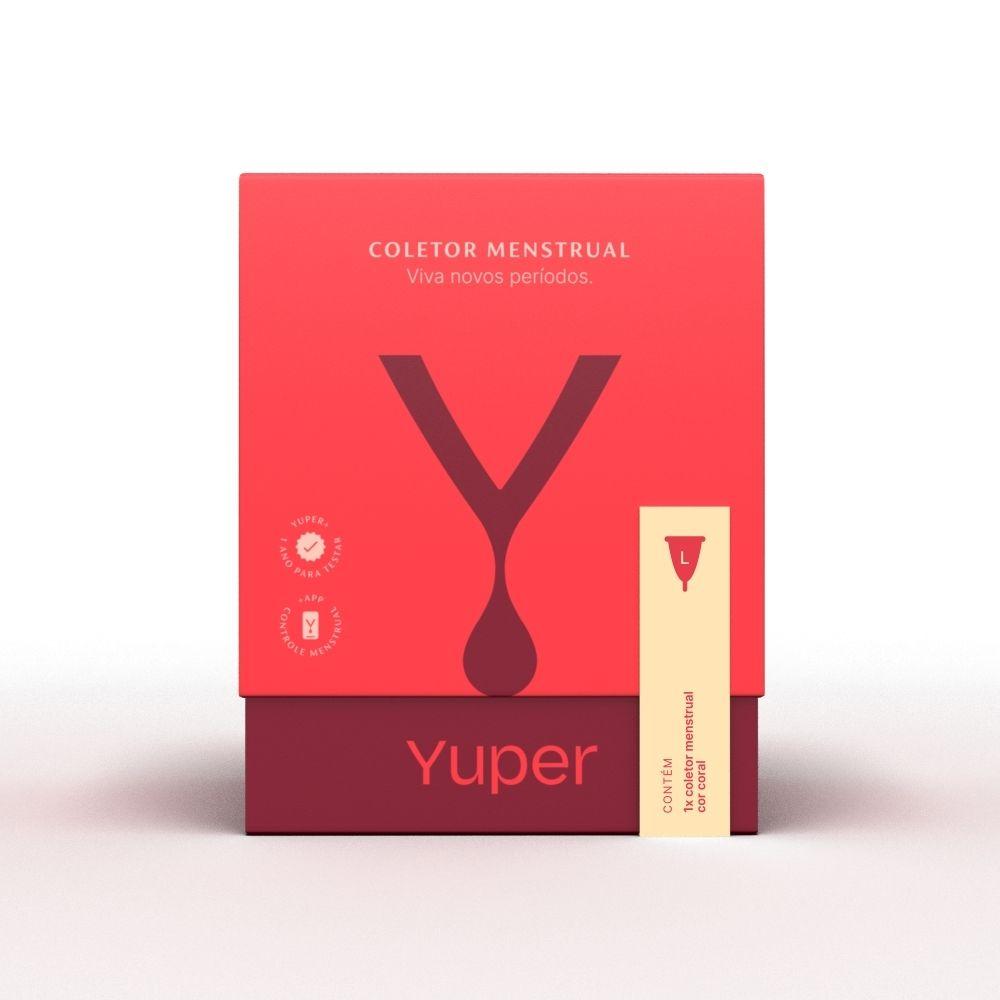 Yuper Coletor Menstrual L Acima 30 anos Coral 1un