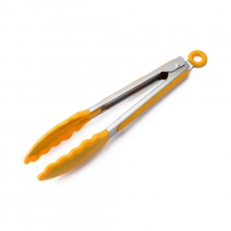 Pegador de Inox com Ponta em Silicone Amarelo 23cm - Weck