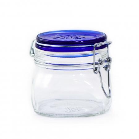 Pote hermético Fido 500ml c/ tampa azul - Bormioli Rocco