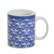 Caneca de porcelana Puka com estampa de azulejo português 330ml - Rojemac