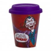 Copo do Coringa/Joker DC Comics 350 ml / De cerâmica com tampa de silicone - Urban