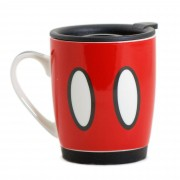 Caneca com tampa e base de silicone do Mickey Disney 350 Ml - Zona Criativa