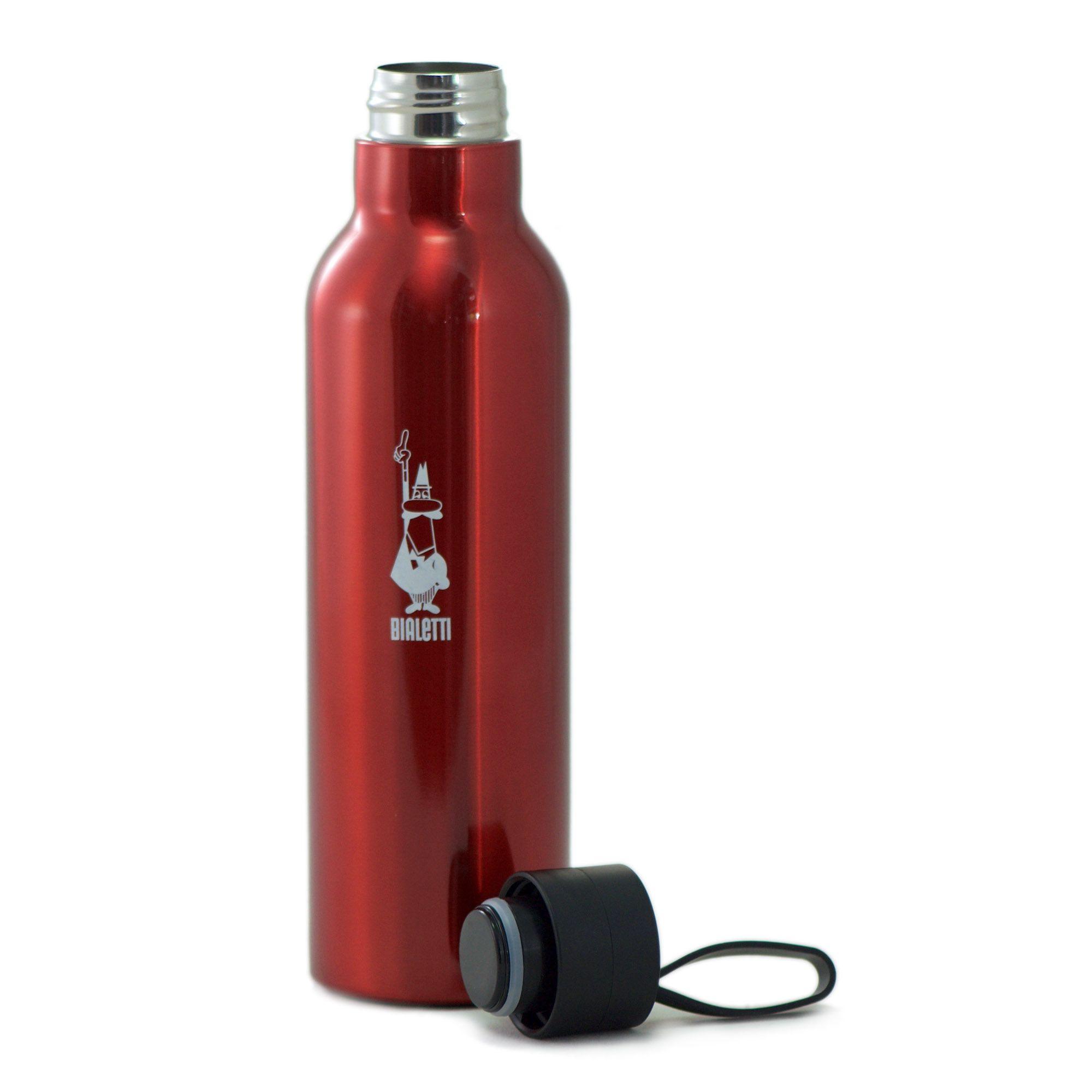 Garrafa Squeeze Vermelha - Aço Inox - Bialetti
