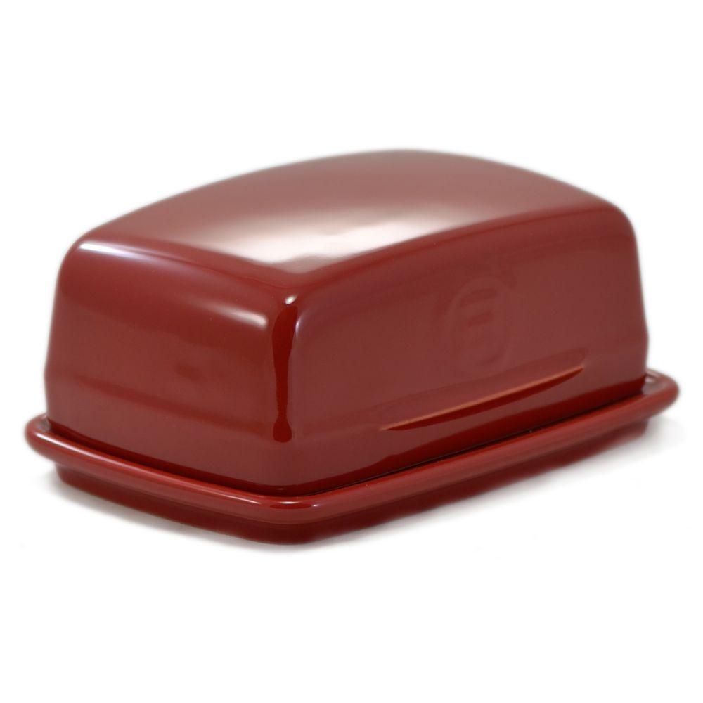 Manteigueira  Francesa Vermelha - 17x12x7Cm - Emile Henry