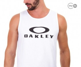 Camisa Regata Oakley Logotipo Bark Tank