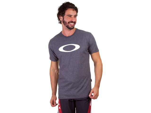 Camiseta Oakley O Ellipse Tee Cinza Original