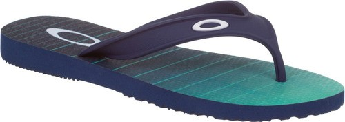 Chinelo Sandalia Masculino Oakley Wave Point Preto Com Verde