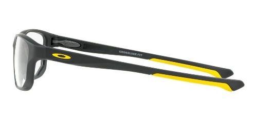 Óculos Oakley Crosslink Fit Satin Pav Com Amarelo
