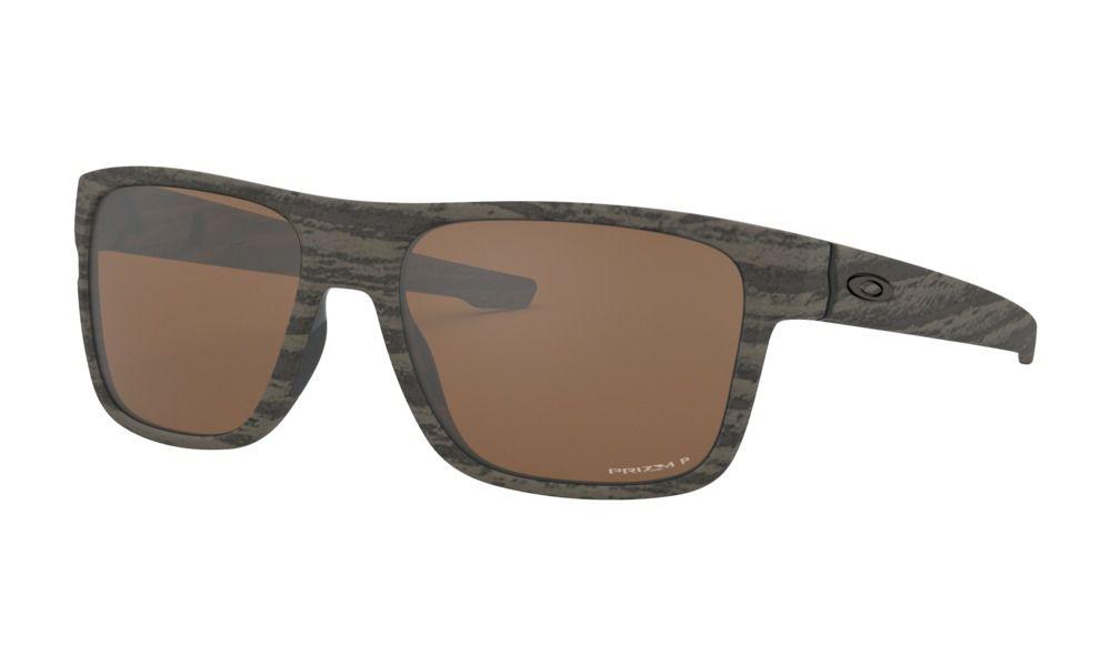 Óculos Oakley Crossrange Woodgrain Tungsten Polrzd