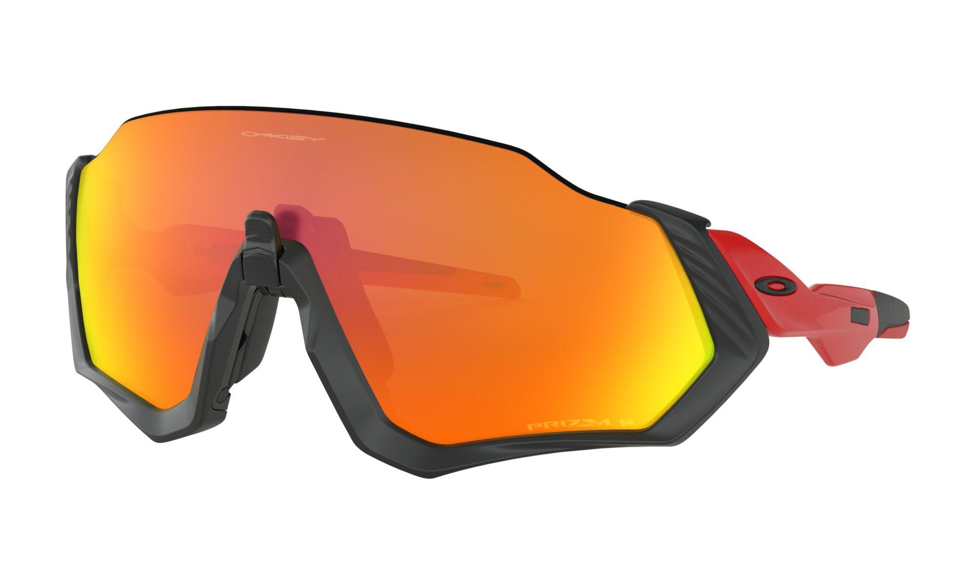 Óculos Oakley Flight Jacket Black Prizm Ruby Polarizada
