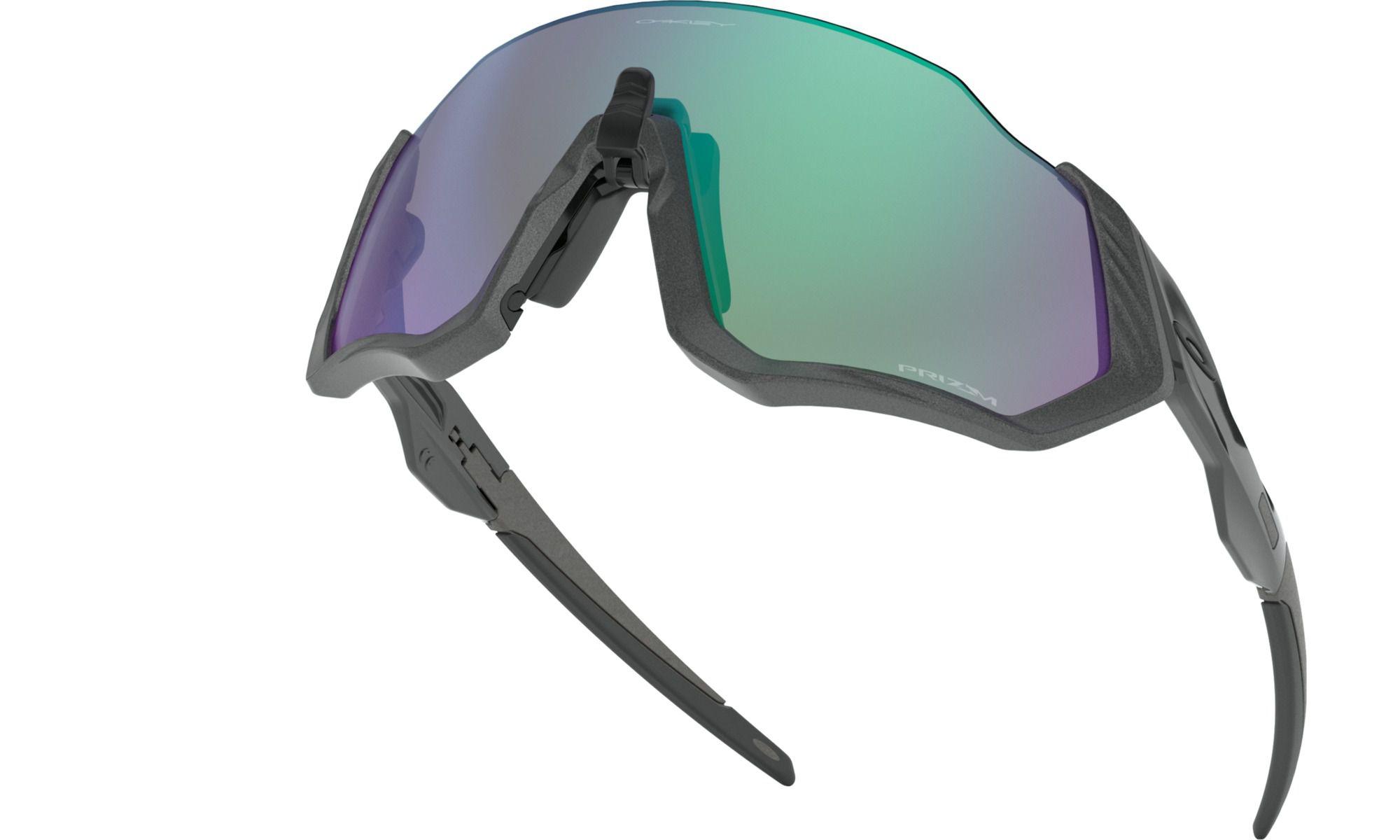 Óculos Oakley Flight Jacket Steel Prizm Road Jade