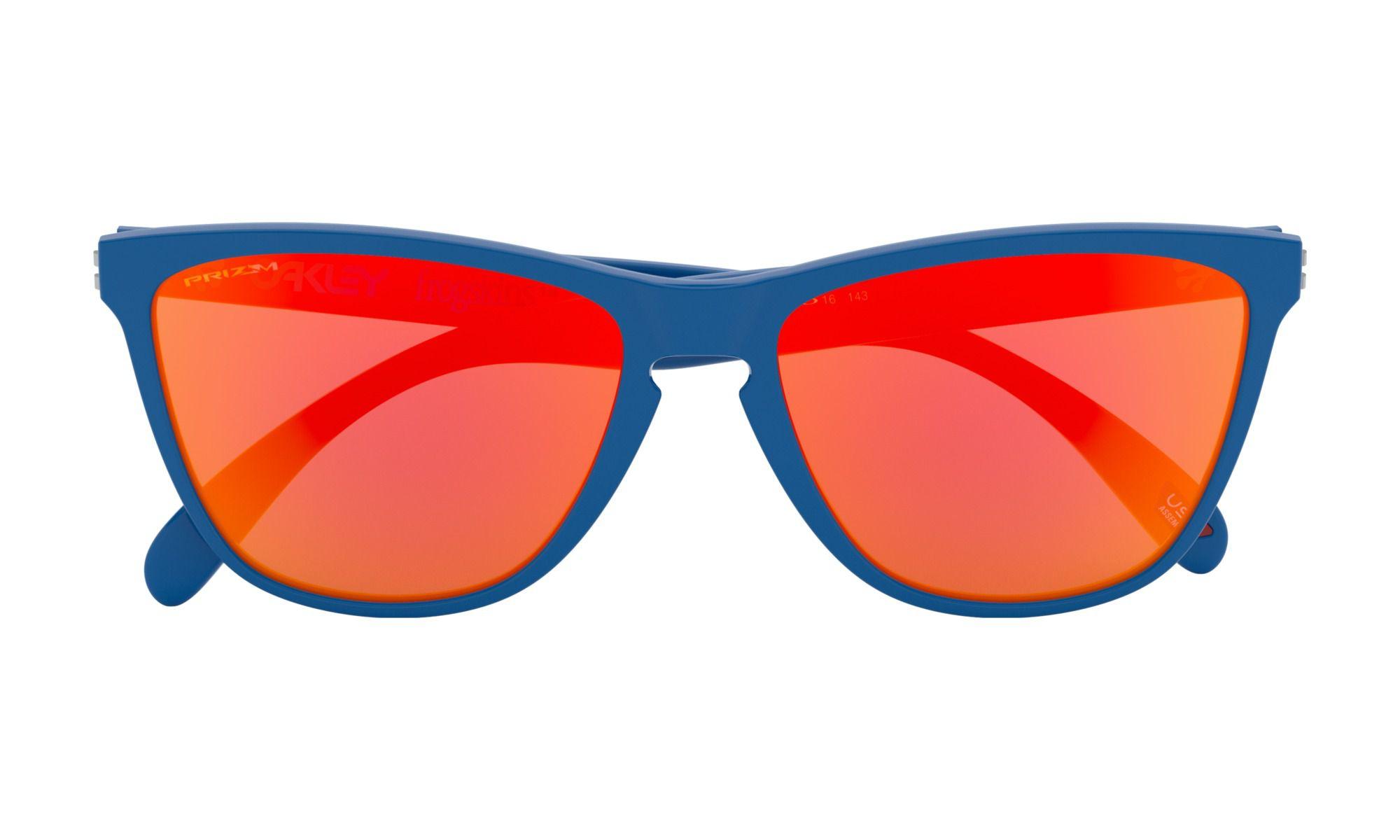 Oculos Oakley Frogskins edição 35 anos Azul com Ruby