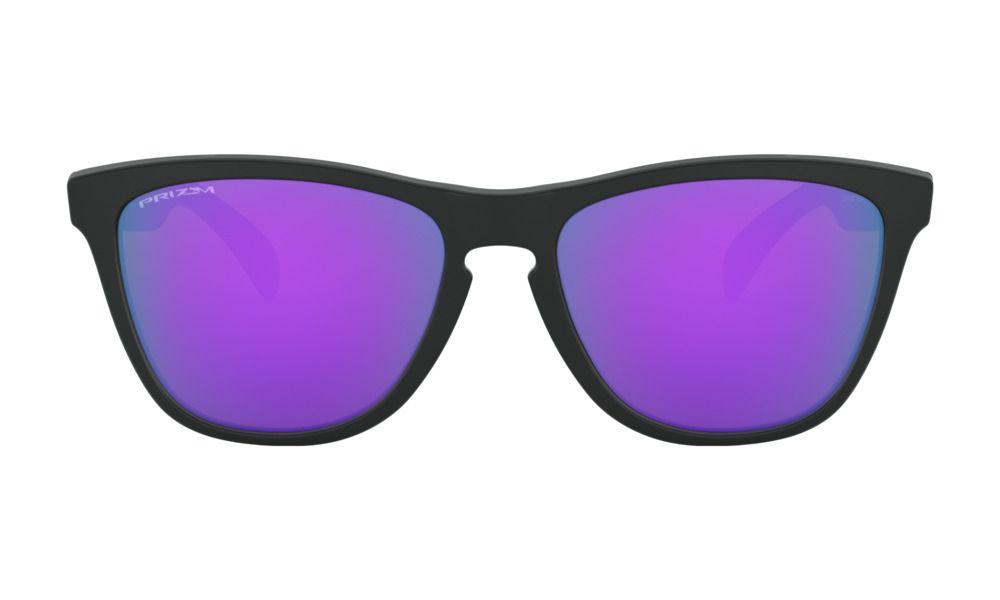 Óculos Oakley Frogskins Matte Black Prizm Violet