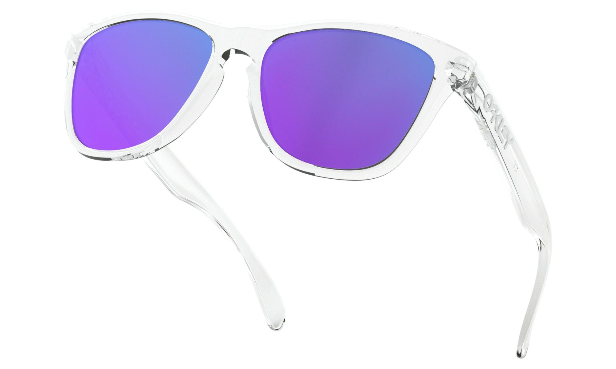 Óculos Oakley Frogskins Transparente Prizm Violet