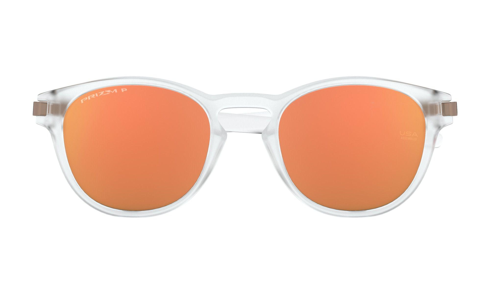 Óculos Oakley Latch Transparente Prizm Rose Gold Polarizado
