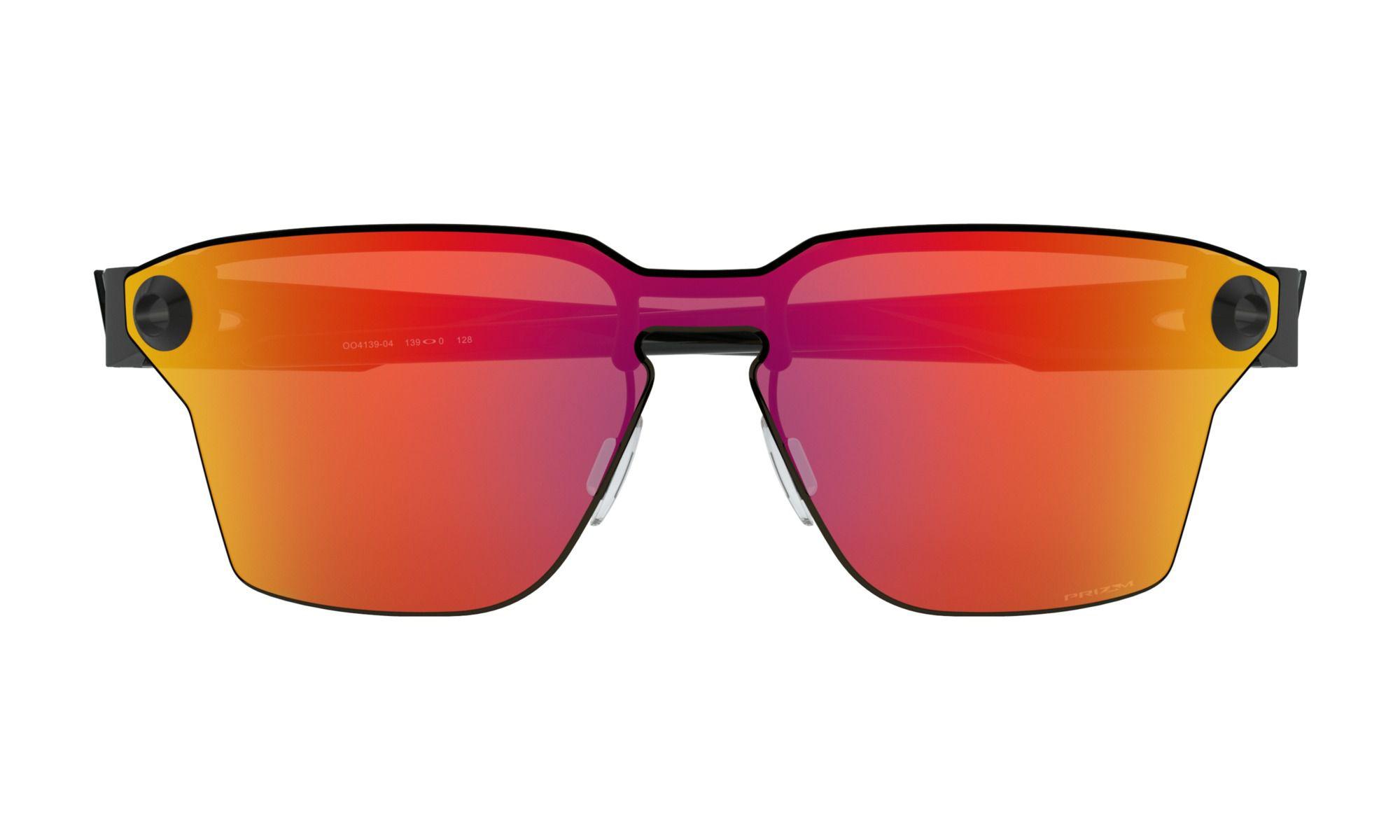Oculos Oakley Lugplate Preto Lente Prizm Ruby