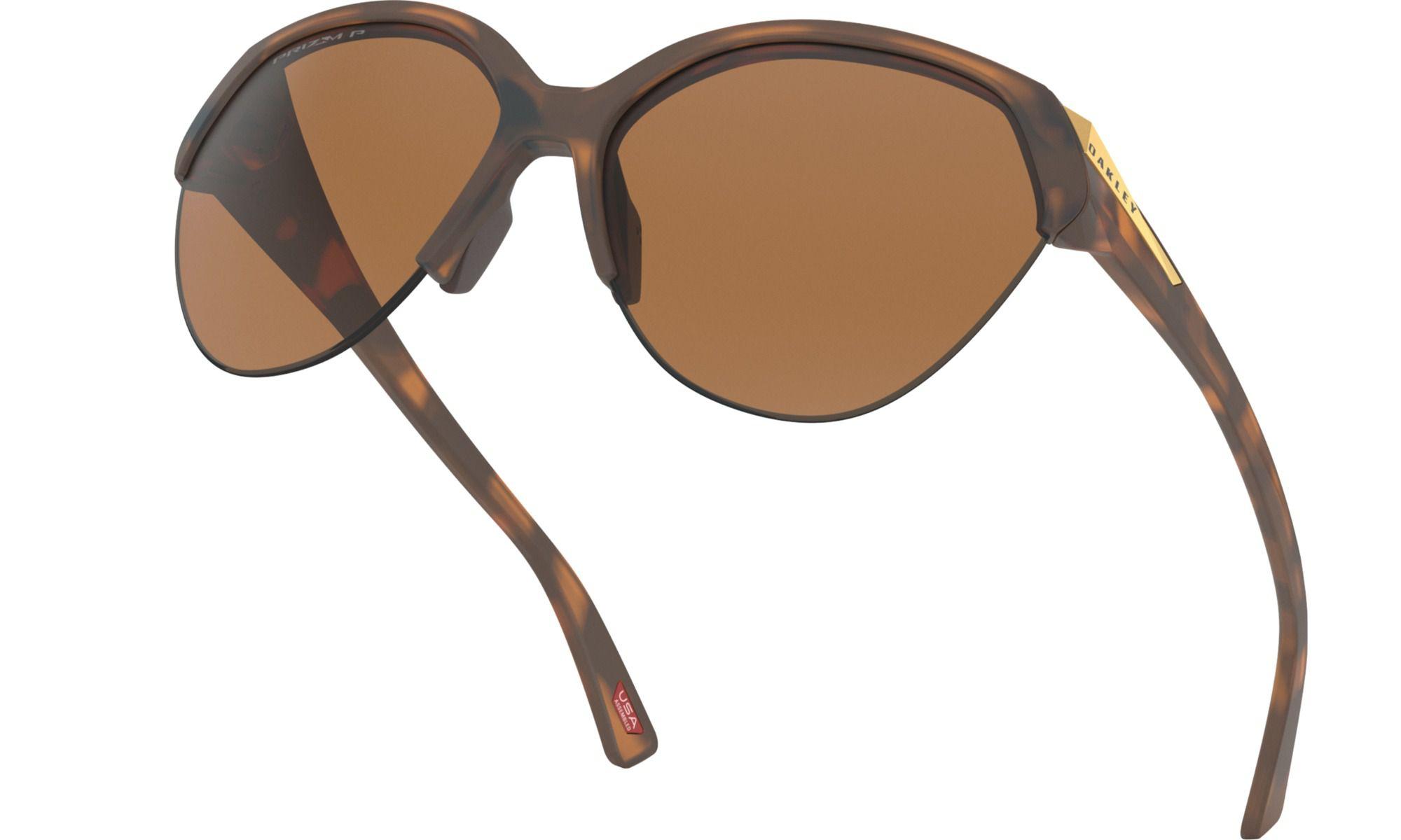 Óculos Oakley Trailing Point Marrom Polarizado