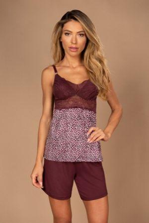 Pijama amamentação de camiseta e short