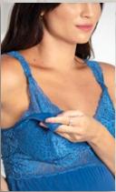 Camisola amamentação em liganete com detalhe em renda no busto e alça
