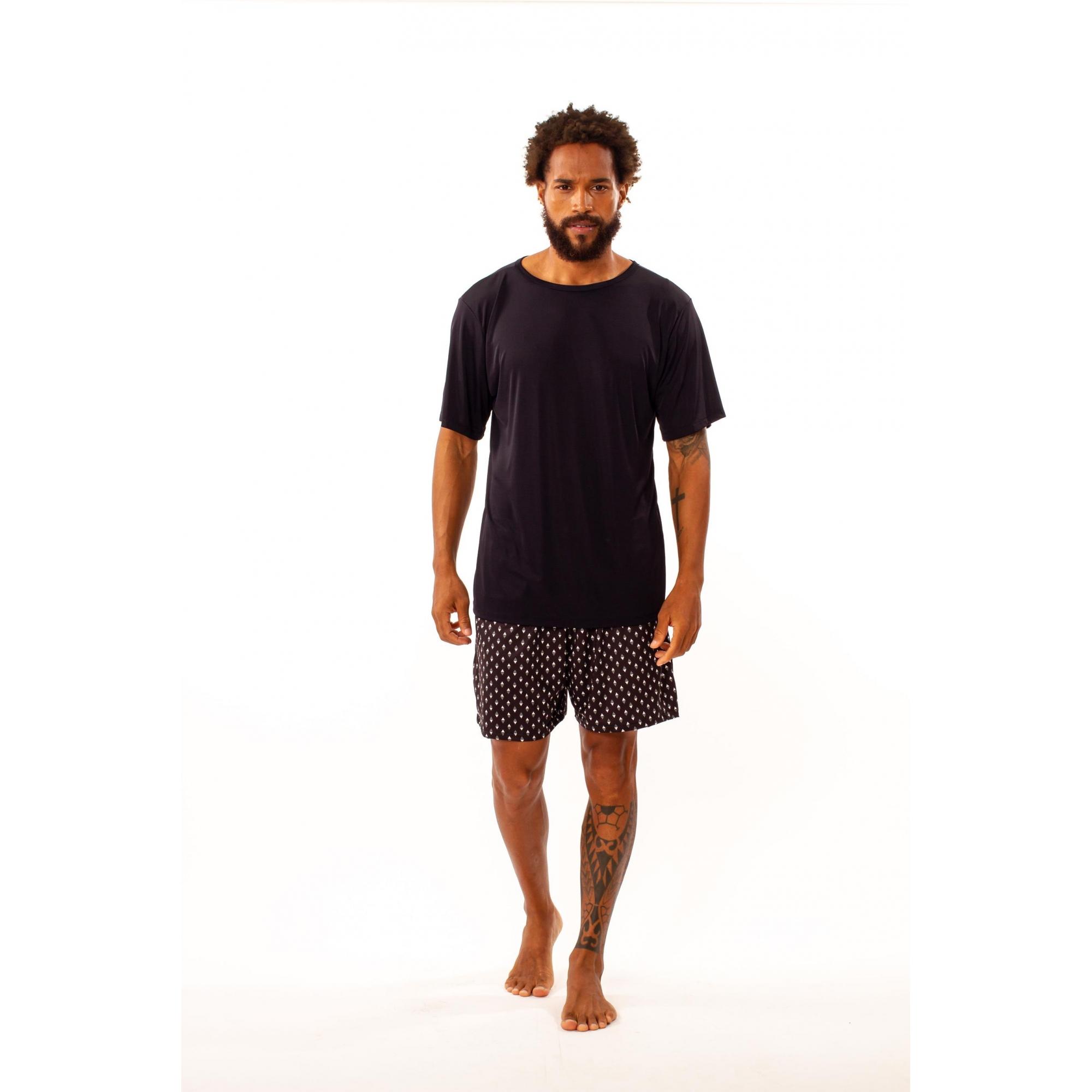 Pijama curto masculino em liganete - 78