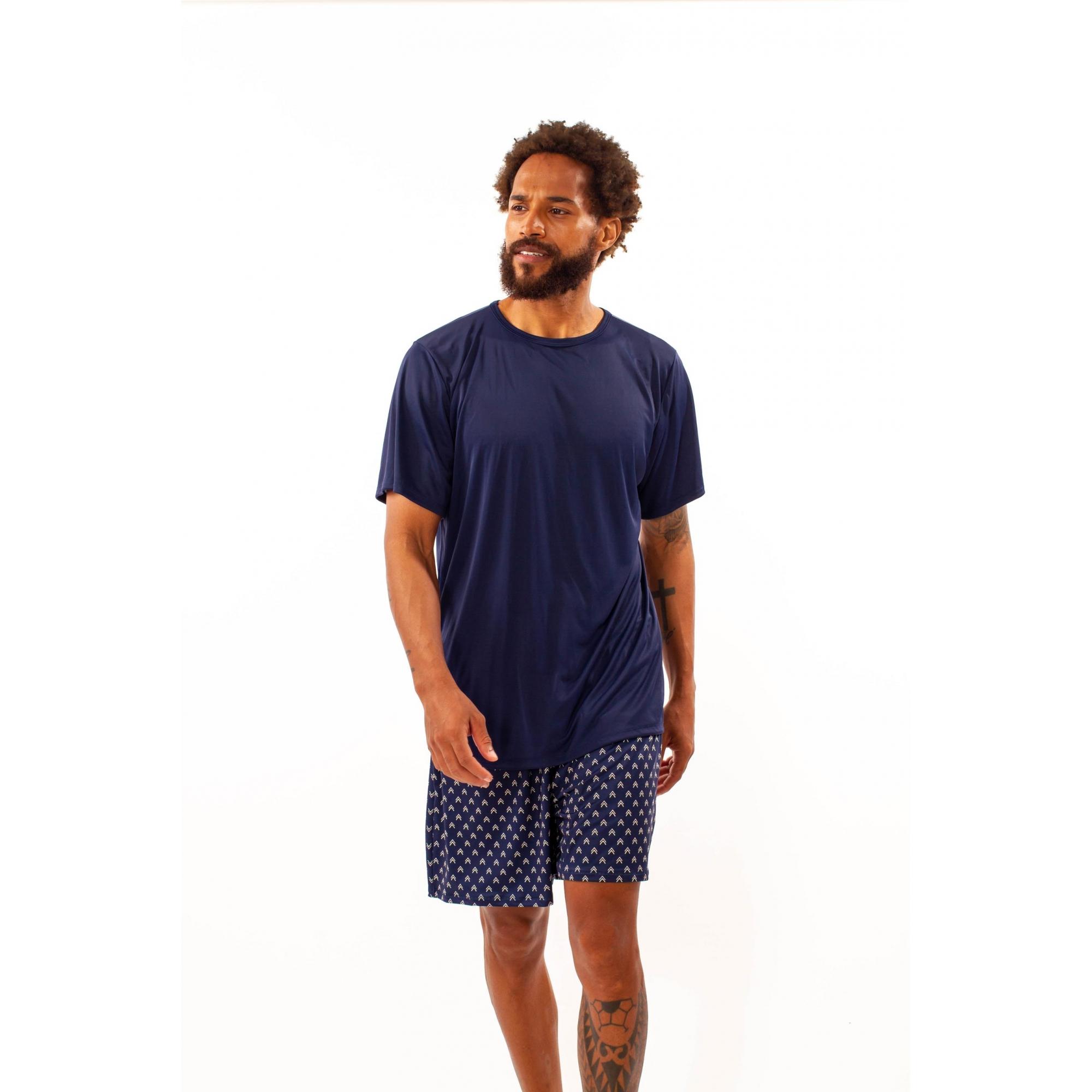 Pijama curto masculino em liganete - 81