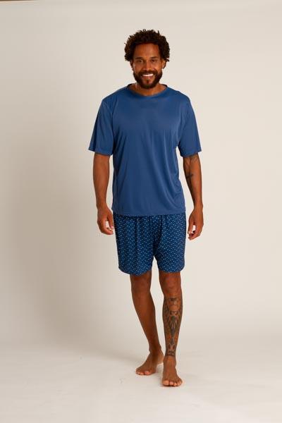 Pijama masculino em liganete