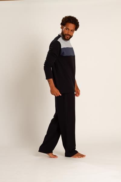 Pijama masculino em moletinho