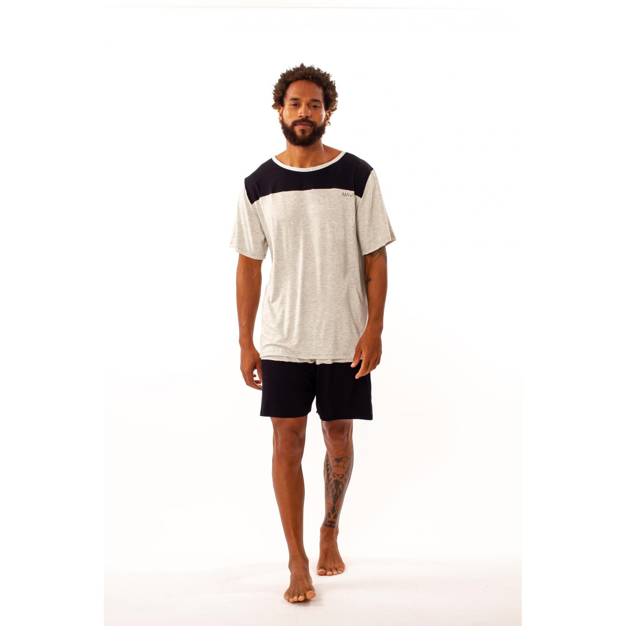 Pijama masculino em viscose - 11