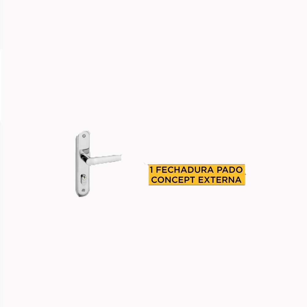 COMBO KIT PORTA PRONTA (IMBUIA 80CM/BATENT. 13 CEDRI./GUARNI. 5 CEDRI./PADO ESP 403E EXT) 1UN CADA