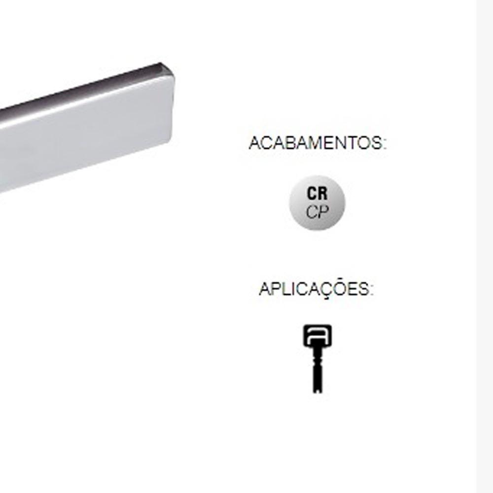 FECHADURA ZAMAC CONCEPT INTERNA  RS 408I CROMADO