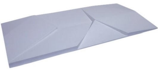 REVESTIMENTO 3D PIRAMIDE 77X38  BRANCO (3,04PC)