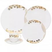 Aparelho De Jantar/Chá 30 Peças Coup Golden  - Oxford Porcelanas