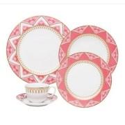 Aparelho De Jantar/Chá 30 Peças Flamingo Macramê - Oxford Porcelanas