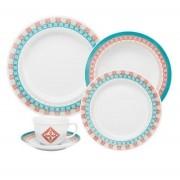 Aparelho De Jantar/Chá 42 Peças Flamingo Colors - Oxford Porcelanas