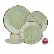 Aparelho De Jantar/Chá 42 Peças Ryo Bambu - Oxford Porcelanas
