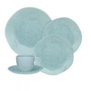 Aparelho De Jantar/Chá 42 Peças Ryo Blue Bay - Oxford Porcelanas