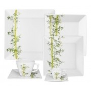 Aparelho De Jantar/Chá/Cafezinho 42 Peças Quartier Bamboo - Oxford Porcelanas