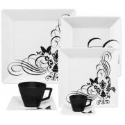 Aparelho De Jantar/Chá/Cafezinho 42 Peças Quartier Tattoo - Oxford Porcelanas