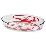 Assadeira De Vidro Borosilicato Oval G 3,0 L - Transparente - Oxford Biona