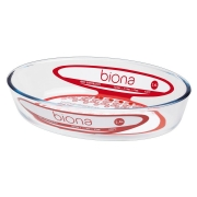 Assadeira De Vidro Borosilicato Oval M 2,4 L - Transparente - Oxford Biona