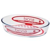 Assadeira De Vidro Borosilicato Oval P 1,6 L - Transparente - Oxford Biona
