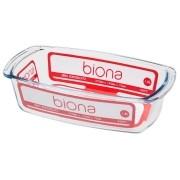 Assadeira De Vidro Borosilicato Retangular C/ Alça 1,8 L - Transparente - Oxford Biona