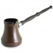 Café Turco (Ibrik) De Cerâmica Ceraflame Martelado 650Ml Chocolate