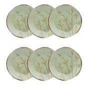 Conjunto 6 Pratos Fundos 22,5Cm Bambu - Oxford Porcelanas