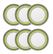 Conjunto 6 Pratos Rasos 26 Cm Actual Tie Dye  - Oxford Biona